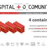 Un spital+o comunitate: 4 containere necesare
